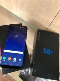 Samsung galaxy s8+ plus with warranty O2 giffgaff tesco network
