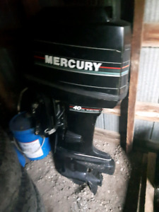 1991 out board 40hp mercury with power tilt
