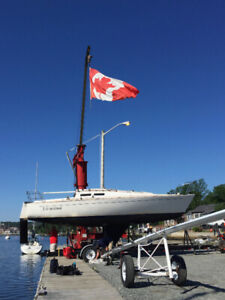 J30 Sailboat and Custom Trailer for Sale - $18,000