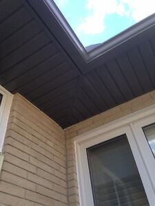 "Seamless 5"" eavestrough, Facia, Soffit, Siding And Capping Kitchener / Waterloo Kitchener Area image 2"