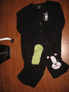 Nick and Nora French Bulldog Onesie PJ's size small