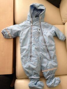 Northfield baby one-piece snow suit, removable hood, 4-6 mths