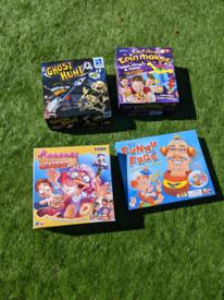 board games - greedy granny, funny face, ghost hunt & coin maker
