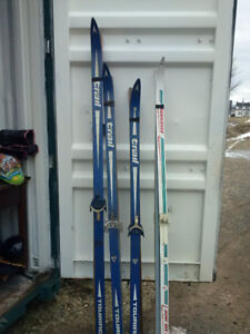 cross  country skis  for sale   and poles