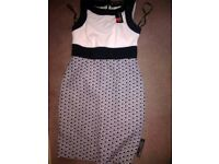 Priniples dress ivory and black 12 stunning dress fir wedding brand new wuth tags 10 12