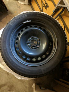 Continental winter tires and rims 215/55/R16