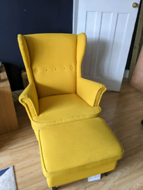 Ikea Strandmon Chair and Footstool