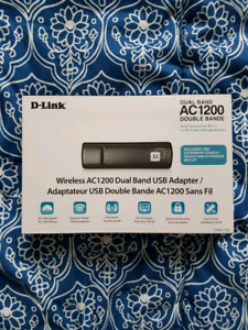 *Unused* D-Link Wireless AC1200 Dual Band USB Adapter
