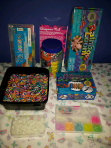 Rainbow loom bracelet kits and supplies