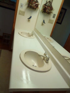 counter and sinks