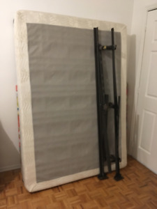FREE Double/Full Boxspring and Adjustable Bed Frame