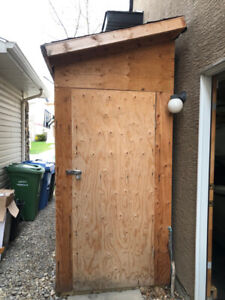 4 x 8 Wood Garden Shed