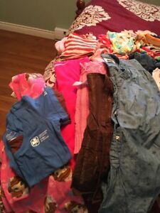 2 Bags of girl's clothes mainly 7/8
