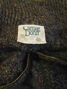 Carraig Donn Aran Full Zip Cable Knit 100% Wool Sweater Men's XL Peterborough Peterborough Area image 7