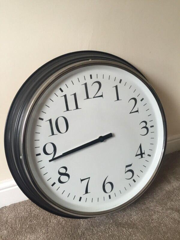 large ikea bravur wall clock in west end glasgow gumtree