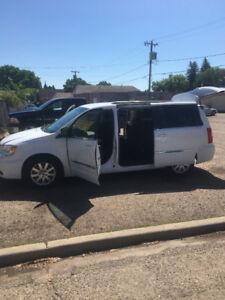 White 2014 Town & Country Touring Mini Van