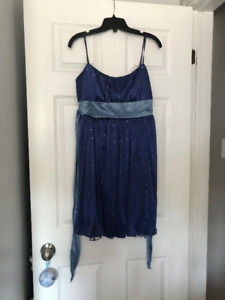 Preowned blue prom/formal dress from Le Chateau