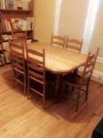 5 x 4 Oak Table and 6 Chairs