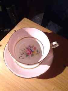 Paragon English tea cup and saucer w Queen Mary mark