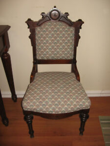 Upholstered Hall side chair