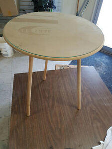3 legged Round Table Glasss top