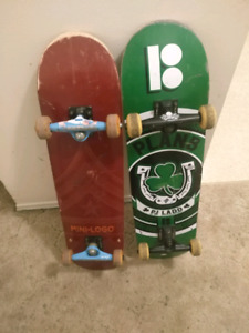 2 Skateboards complete like new.