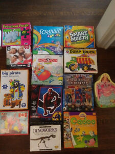 Games & puzzles.  Assorted games & puzzles.  Prices listed below