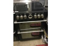 Black 60cm wide electric Cooker with Induction hobs