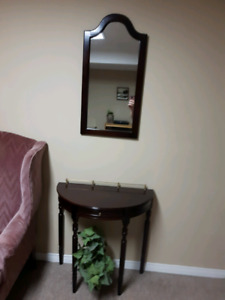 Nice Table and Mirror Set