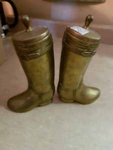 Solid Brass Vintage Cowboy Boots