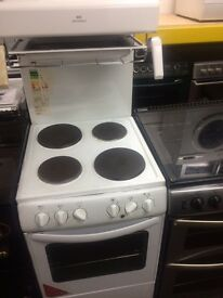 White new world 55cm high level electric cooker grill & oven good condition with guarantee