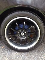 17 inch konig rims and tires 4x100/4x114.3