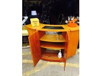 Gorgeous Retro Teak Fold Out Bar / Cocktail Cabinet @LOOK@
