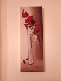 Tall floral vases