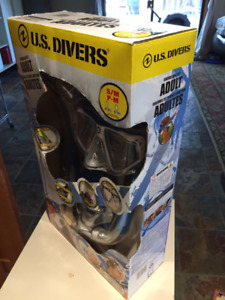 NEW US Divers snorkelling set - mask, fins, snorkel
