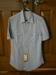 Hugo Boss Orange Short Sleeve Men`s Shirt NEW