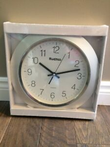 """14"""" Silver Magnus Wall Clock (New- in the package)"""