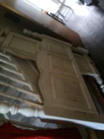 FREE solid pine double bed frame