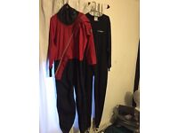 Trident dry suit and typhoon undersuit