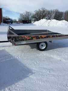 Norberts - Snowmobile Trailer - Aluminum - Double Tilt