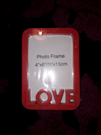Red love photo frame