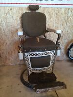 Rare vintage Louis Hanson Co Barbers chair - BEST OFFER