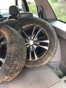Brand new tires with aftermarket rims