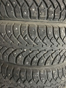 Studded Nokian Hakkapeliitta winter tires with Rims,205/65R15