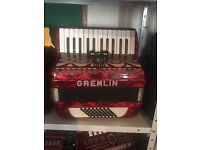 48 bass accordion made in Germany by weltmeister. With case