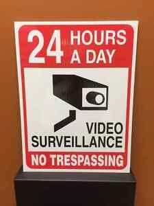 Sign - 24 Hour Video Surveillance - No Trespassing