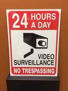 Sign - 24 Hour Video Surveillance - No Trespassing Regina Regina Area image 1