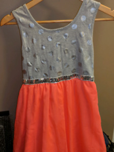 Girls dress and two sparkly skirts - size 14-16