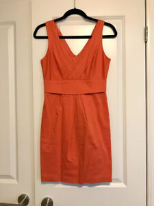 BCBG Orange Cocktail Dress - Size Small