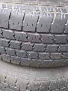 Rims and tires off of a jeep cherokee  Cambridge Kitchener Area image 2